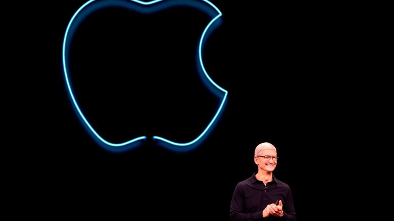 Apple CEO Tim Cook. The tech giant is one of Imagination Technology's most important customers