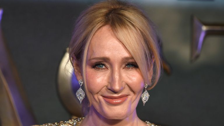 "LONDON, ENGLAND - NOVEMBER 15:  J.K. Rowling attends the European premiere of ""Fantastic Beasts And Where To Find Them"" at Odeon Leicester Square on November 15, 2016 in London, England.  (Photo by Anthony Harvey/Getty Images)"