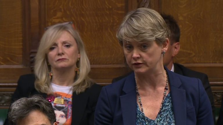 Ed Miliband (front left) and Yvette Cooper (front right) in the chamber of the House of Commons, London, after judges at the Supreme Court ruled that Prime Minister Boris Johnson's advice to the Queen to suspend Parliament for five weeks was unlawful.