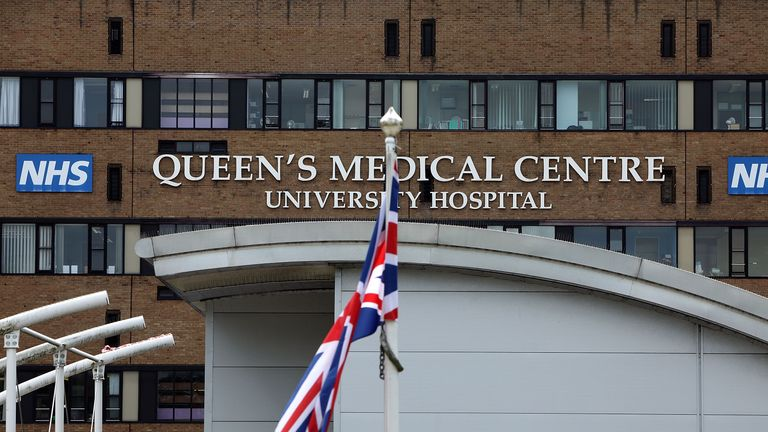 NOTTINGHAM, UNITED KINGDOM - JULY 16:  A general view of the Queens Medical Centre and University Hospital, Nottingham on July 16, 2009 in Nottingham, England.  (Photo by Christopher Furlong/Getty Images)