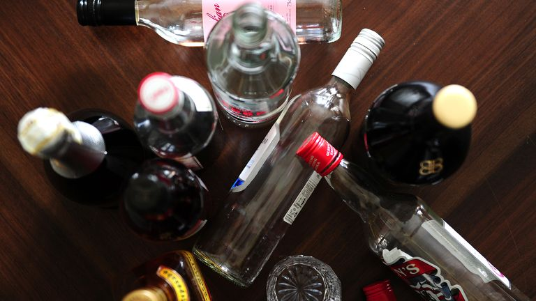 Undated file photo of alcohol. People suffering from a hangover have a reduced ability to switch between tasks and retain information, a study has found.