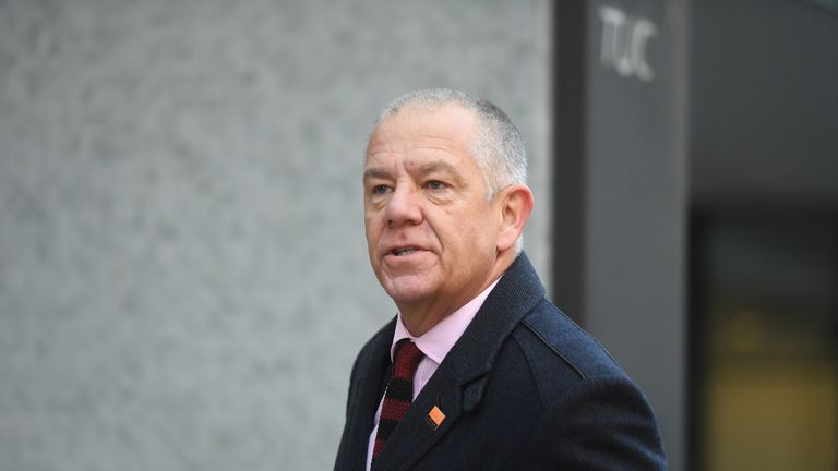 GMB General Secretary Tim Roache arrives at the union's headquarters in London ahead of a meeting to discuss their Labour leadership recommendation.
