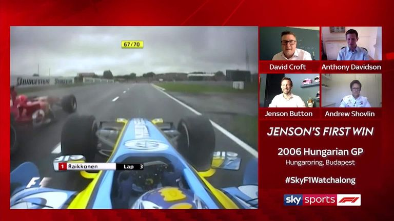 Button and Anthony Davidson assess the wheel-to-wheel battles between Schumacher and Alonso