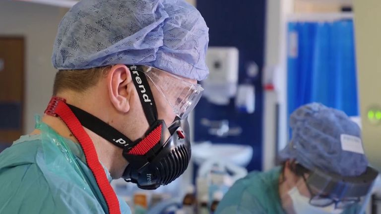 Staff in ICU