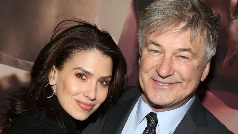 "NEW YORK, NEW YORK -FEBRUARY 20: Hilaria Baldwin and husband Alec Baldwin pose at the opening night of the revival of Ivo van Hove's ""West Side Story""on Broadway at The Broadway Theatre on February 20, 2020 in New York City"