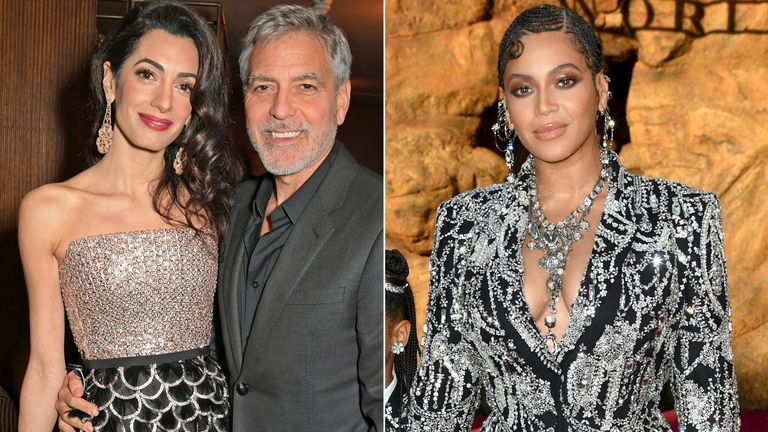 Amal and George Clooney and Beyonce
