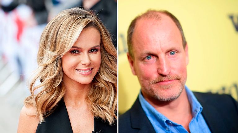 Amanda Holden and Woody Harrelson are among celebrities which have amplified conspiracy theories