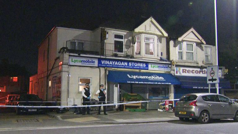 A baby and a three-year-old boy have been stabbed to death at a house in east London.