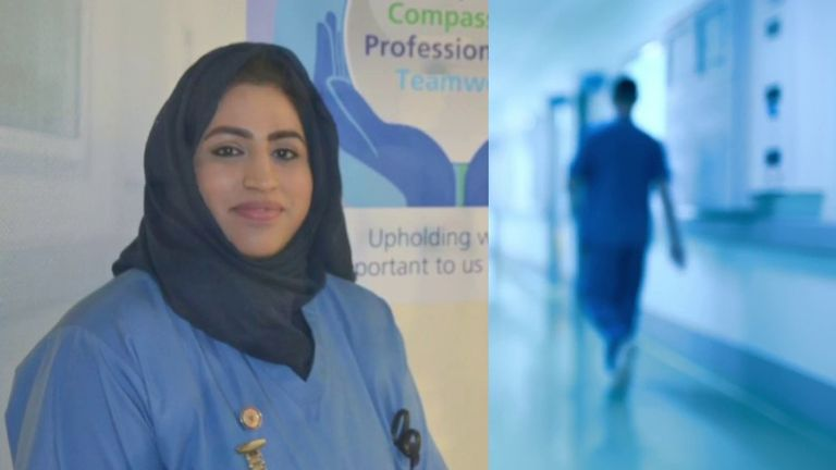 British Pakistani nurse Areema Nasreen had worked as a hospital cleaner for 15 years before becoming a medic
