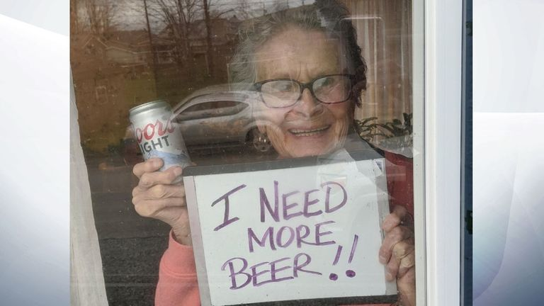 Olive Veronesi also dropped a hint about the type of beer she likes. Pic: KDKA