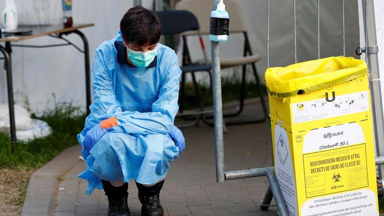 Intensive care unit in Belgium