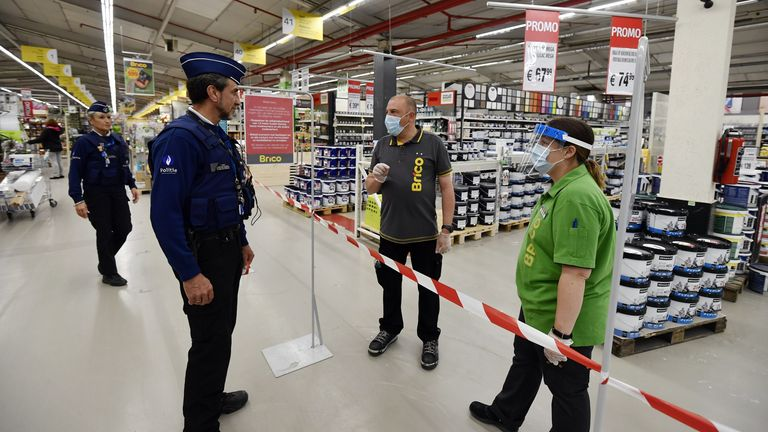 Police are patrolling the stores