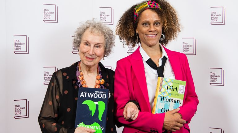 Booker Prize winners Margaret Attwood and Bernadine Evaristo