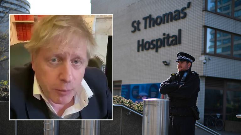 Boris Johnson was first admitted to St Thomas' Hospital on Sunday night