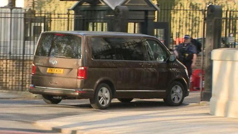 Boris Johnson returned to Downing Street on Sunday afternoon