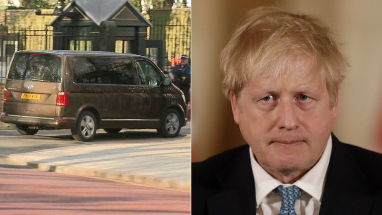 Boris Johnson returned to Downing Street on Sunday afternoon