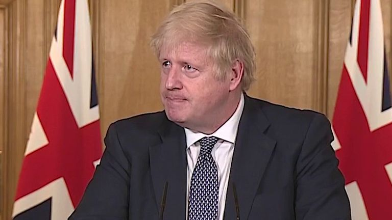 Boris Johnson suggests that the government are looking at the usefulness of face masks