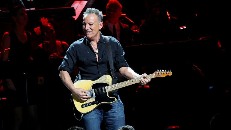 Springsteen on stage in New York in December
