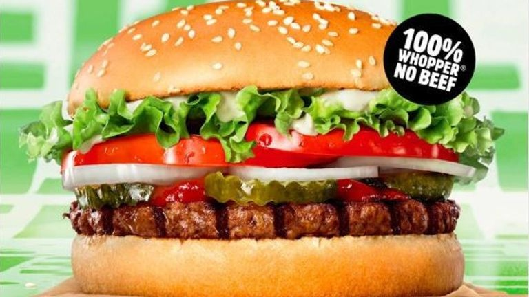 Burger King said the Rebel Whopper was '100% plant based'