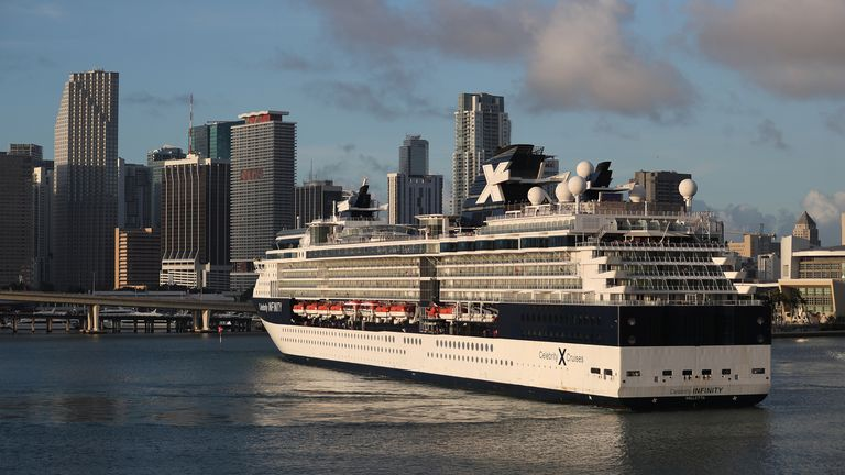 The Celebrity Infinity has around 900 crew members on board