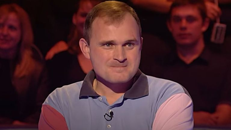Charles Ingram on Who Wants To Be A Millionaire? in 2001. Pic: Who Wants To Be A Millionaire?
