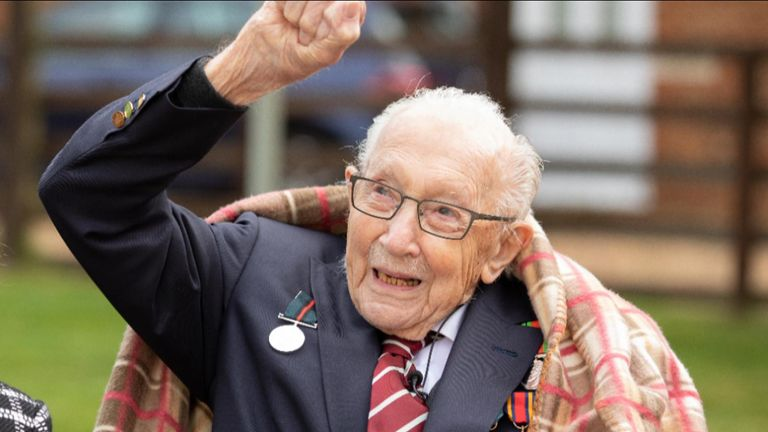 Colonel Tom Moore celebrates 100th birthday