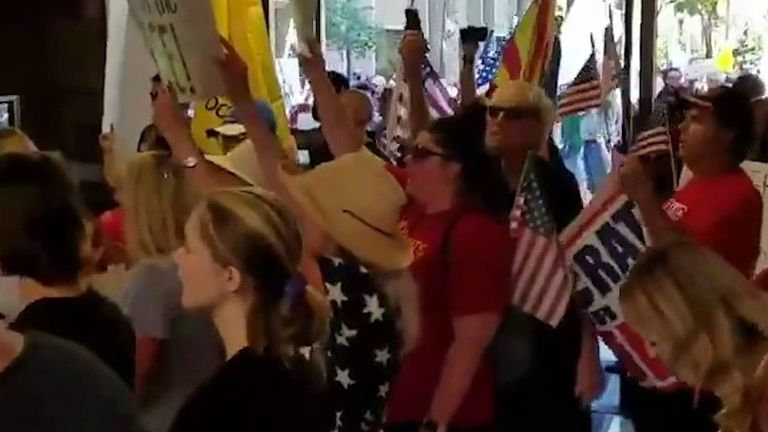 Protesters want Arizona reopened
