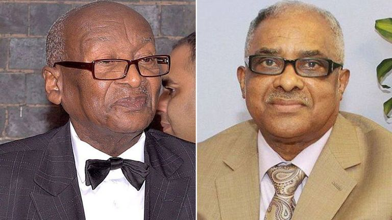 Rev Bishop Horatio Fearon, (L) and Rev Bishop Theophilus Augustus McCalla (R) died a day apart. Pic: Walter James Photography