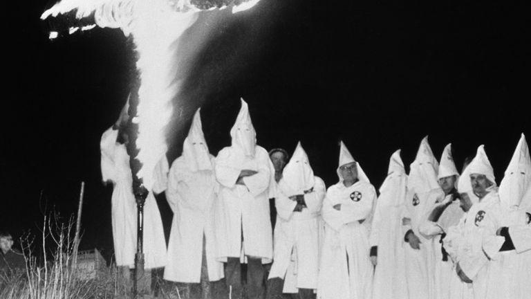 A KKK meeting in Michigan in 1937