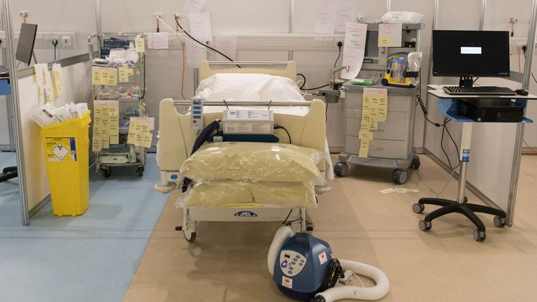 The facility will be used to treat COVID-19 patients