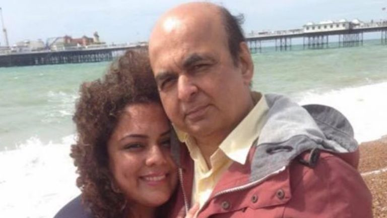 Pharmacist Pooja Sharma and her father Sudhir