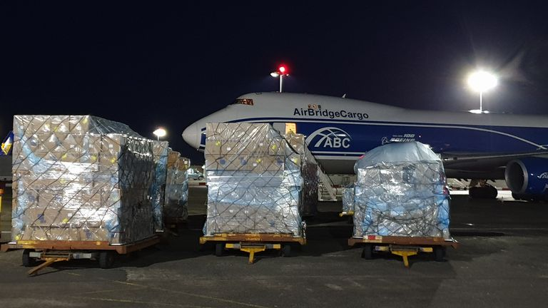 Coronavirus: Logistics company flies in tonnes of PPE as imports ...
