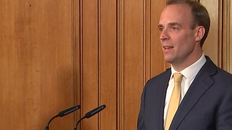 Foreign secretary, Dominic Raab says he is confident the PM will pull through as 'he's a fighter'