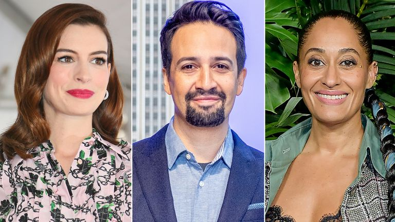 Anne Hathaway, Lin-Manuel Miranda, and Tracee Ellis Ross
