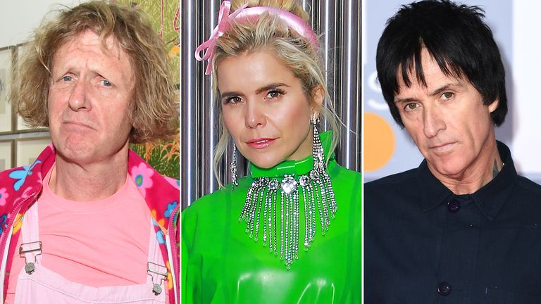 Grayson Perry, Paloma Faith, Johnny Marr