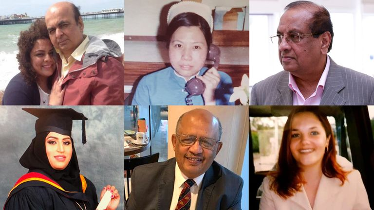 (Clockwise from top left) Pooja Sharma and her father Sudhir, Alice Kit Tak Ong, Dr Anton Sebastianpillai, Aimee O'Rourke, Dr El Tayar, Areema Nasreen