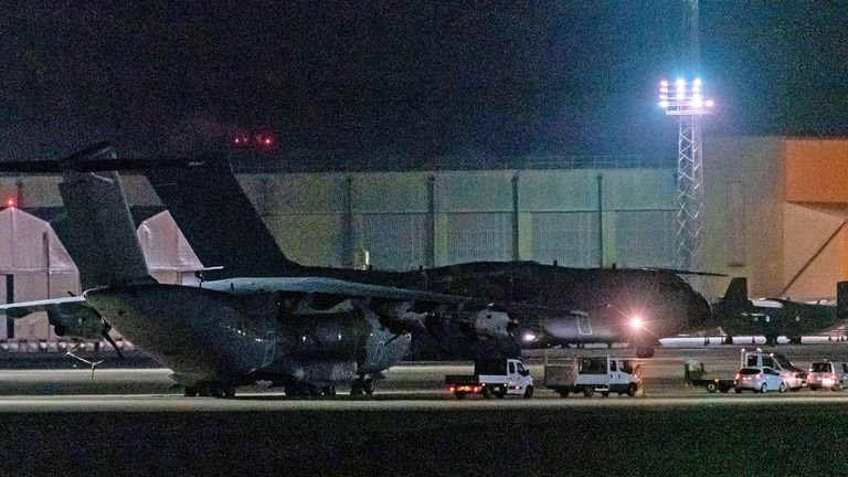 PPE Supplies arrive at RAF Brize Norton. Pic: Greg Blatchford/Shutterstock