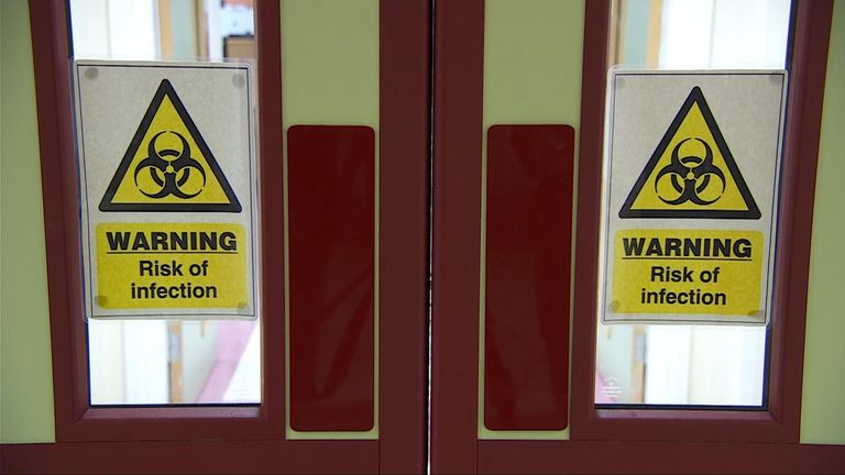 The rheumatology day unit has been transformed into an admissions ward for those with suspected cases of the virus