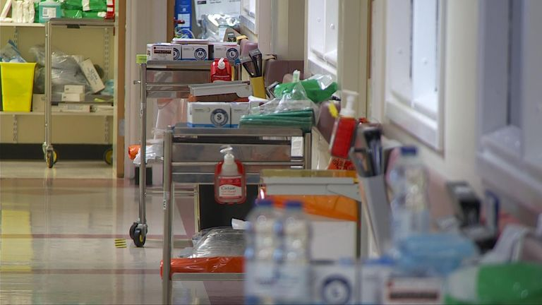 The unit at Neath Port Talbot Hospital is currently using five of its 17 beds