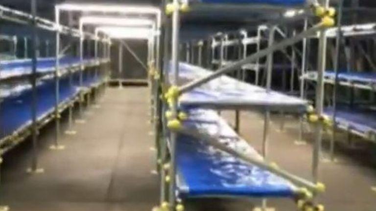 Each hangar has room for 600 bodies