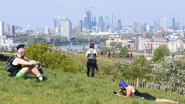 Greenwich Park in southeast London