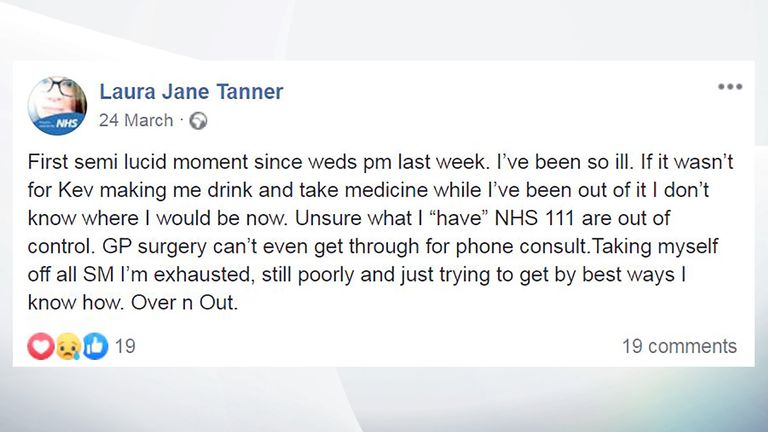 Laura Tanner facebook post