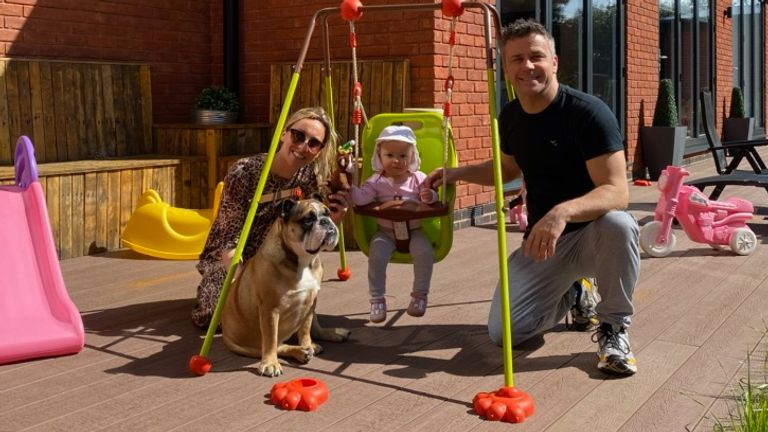 Craig has been keeping busy with wife Laura, daughter Nelly and bulldog Sydney