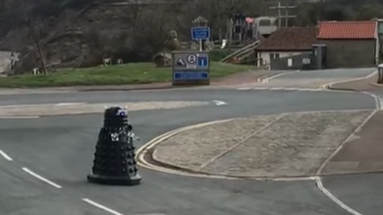 The Dalek was spotted patrolling the streets. Pic: Louise Parker