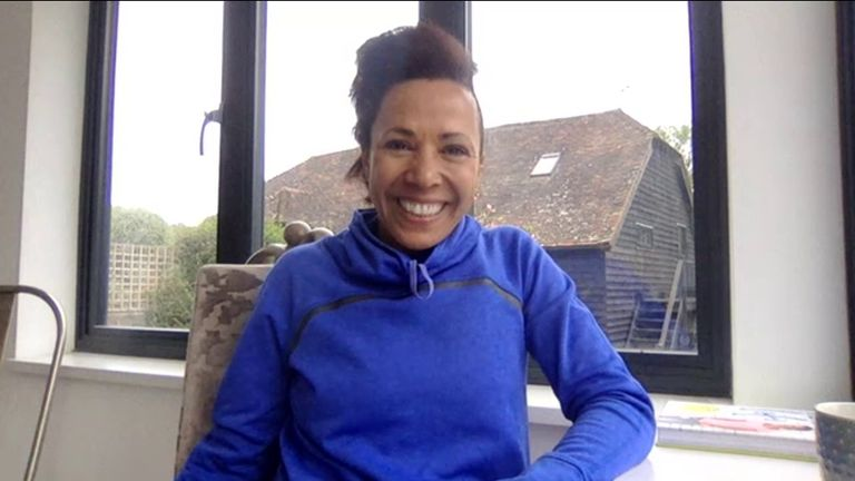 Dame Kelly Holmes gives exercise tips