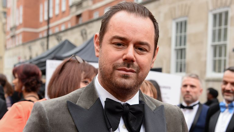 Danny Dyer attends The Olivier Awards with Mastercard at the Royal Albert Hall on April 07, 2019 in London, England.