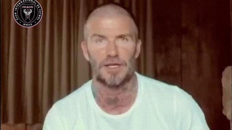David Beckham ; Credit - Inter Miami