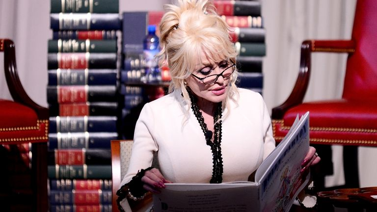 Dolly Parton at The Library of Congress on February 27, 2018 in Washington, DC.