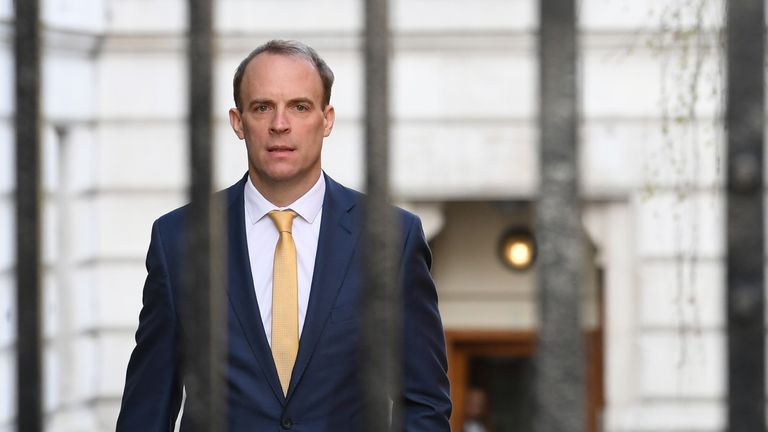 Dominic Raab has struggled to answer questions on whether he has the authority to change course
