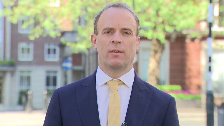 Dominic Raab says it would be irresponsible to end lockdown too early